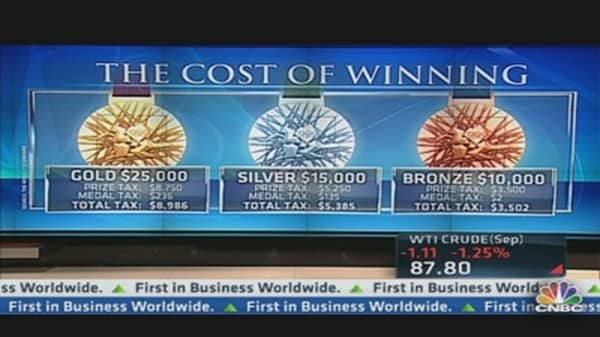 The Cost of Winning an Olympic Medal
