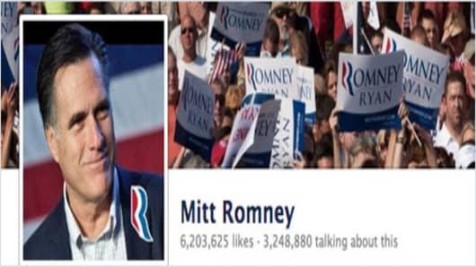 Mitt Romney's Facebook page.