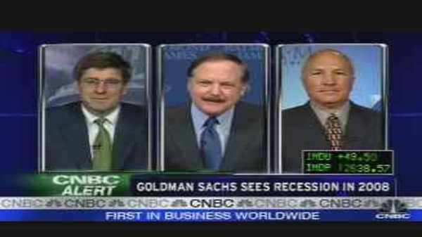 Goldman Sees Recession