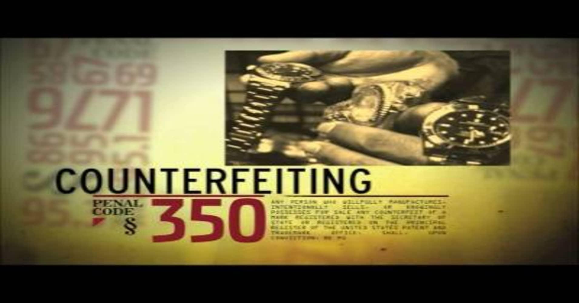 Crime Inc : Counterfeit Goods