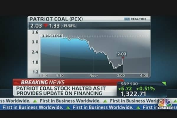 Breaking News: Patriot Coal Shares Halted