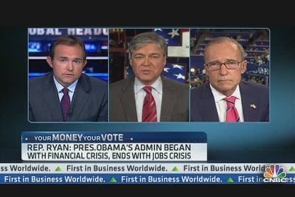 Kudlow on Ryan Speech: 'Somewhat Disappointed'