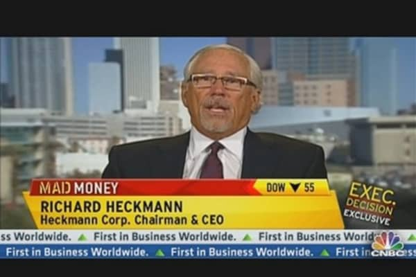 Heckmann CEO Rose 38% Today