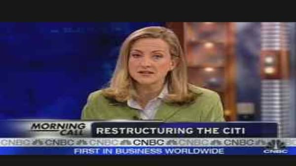 CitiGroup Restructuring