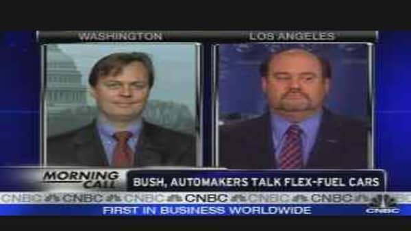 Bush, Automakers Talk Flex-Fuel Cars