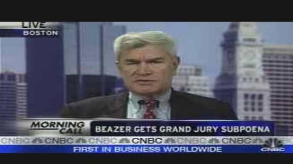 Beazer Gets Grand Jury Subpoena
