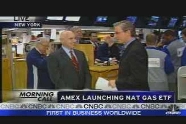 AMEX Launching Nat Gas ETF