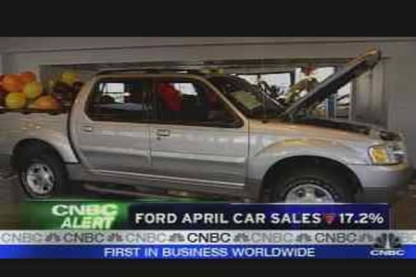 Ford April Auto Sales