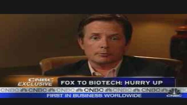 Michael J. Fox Pressures Biotechs