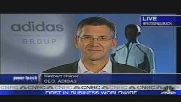 Adidas CEO on First-Quarter Earnings