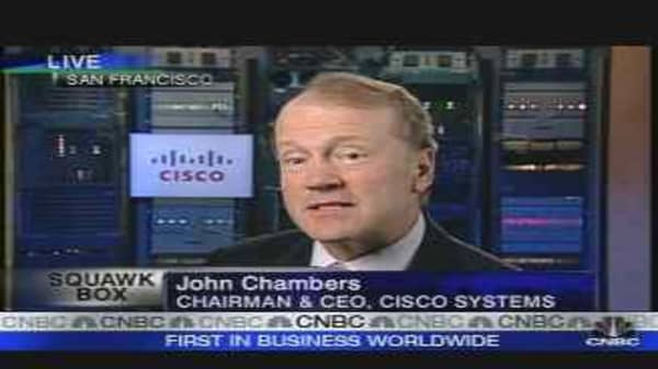 Cisco Systems Q3 Net Profit Up 34%