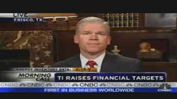 TI Raises Financial Targets