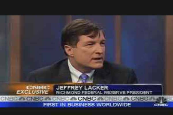 Lacker on the Economy