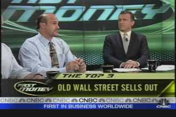 Old Wall St. Sells Out