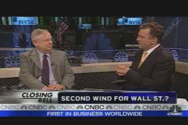 Second Wind for Wall St.?