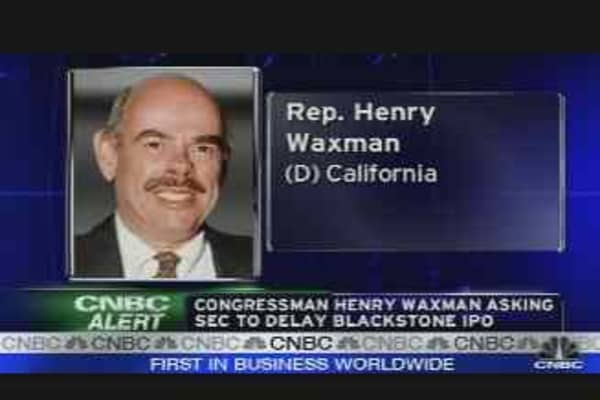 Waxman on Blackstone
