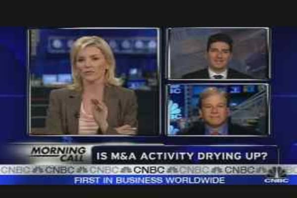 Is M&A Activity Drying Up?