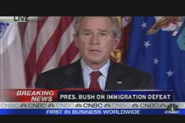 Bush on Immigration Defeat