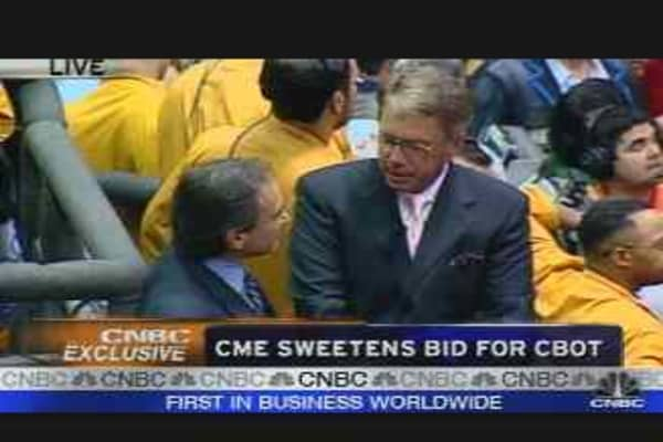 CME Sweetens CBOT Bid