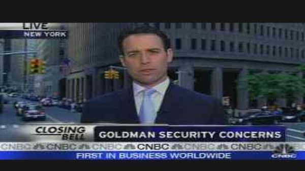 Goldman Security Concerns