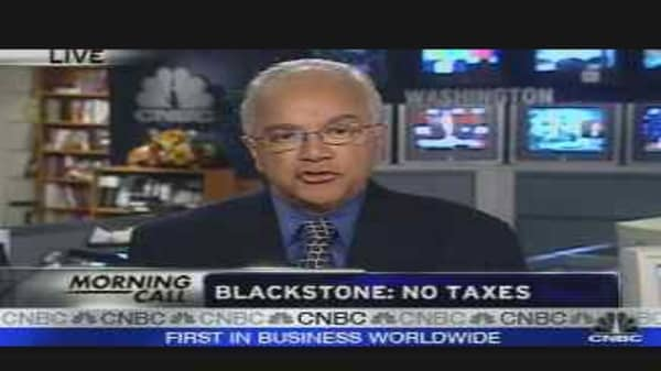 Blackstone: No Taxes