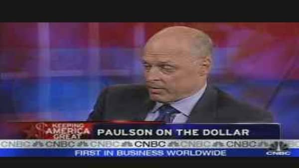 Paulson on the Dollar