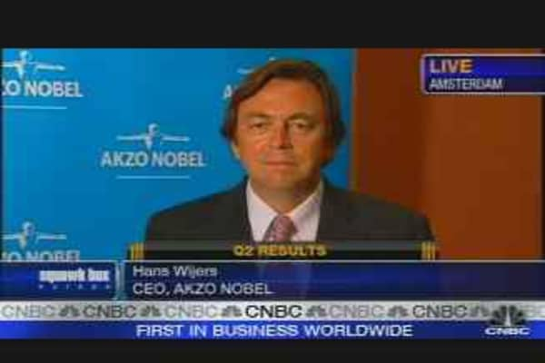 Akzo Nobel CEO on Earnings