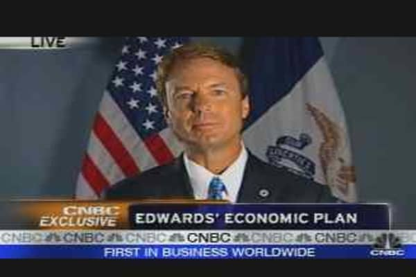 Edwards' Economic Plan