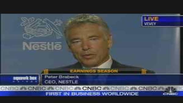 Nestle CEO on Earnings