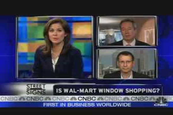 Is Wal-Mart Window Shopping?