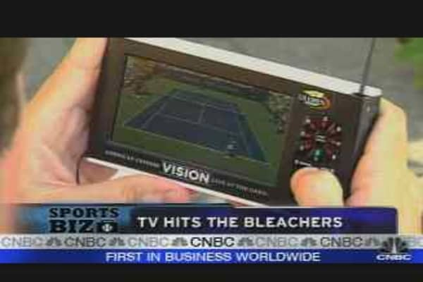 TV Hits the Bleachers