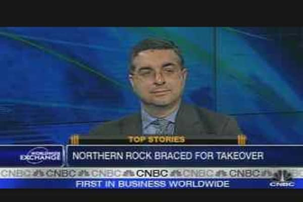 Northern Rock Falls Further
