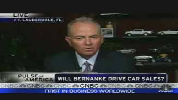 Bernanke Driving Car Sales?