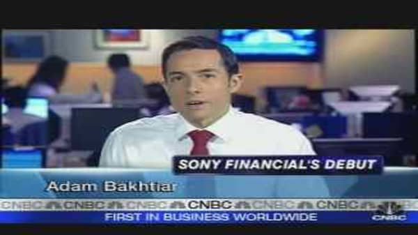 Sony Financial's Trading Action