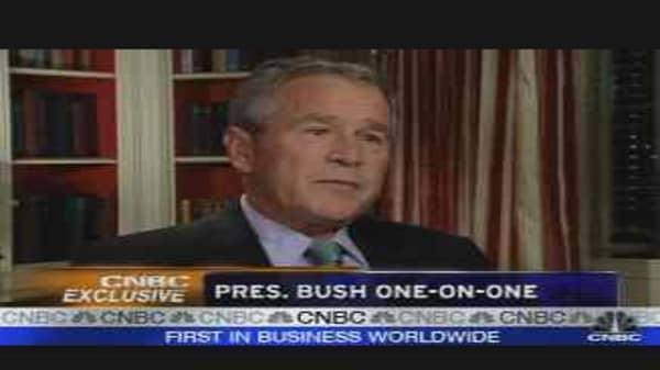 Pres. Bush One-on-One