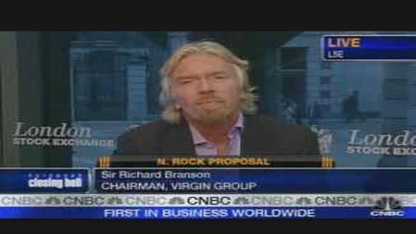 Branson on Northern Rock Proposals