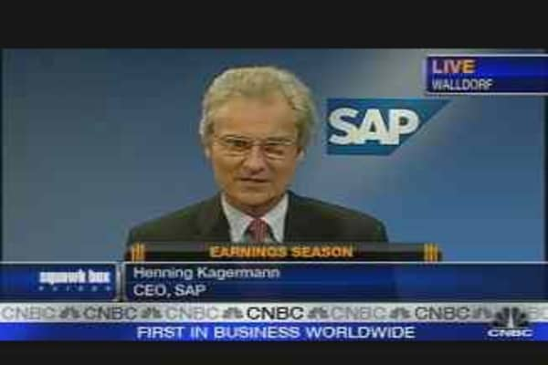 SAP Confident on 2007 After Strong Third Quarter