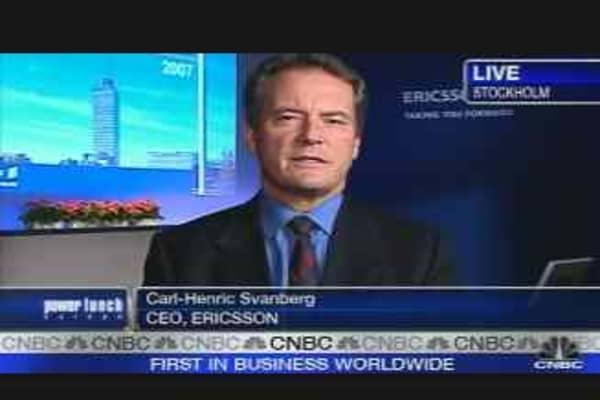 Ericsson CEO on Earnings Decline