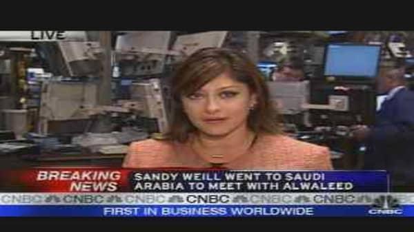 Sandy Weill's Saudi Arabia Trip