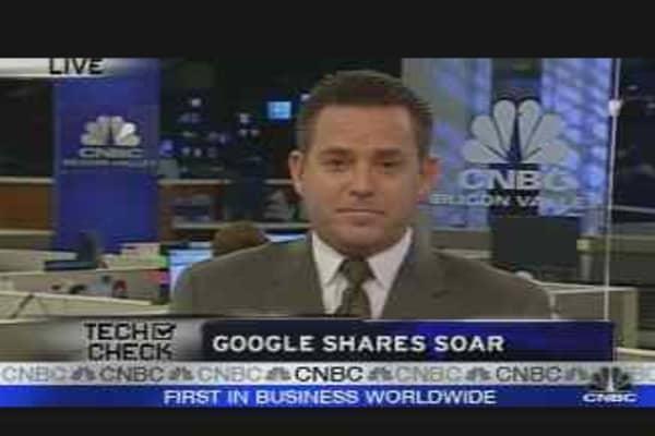 Google Shares Soar