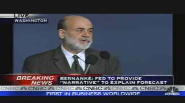 Bernanke Speaks