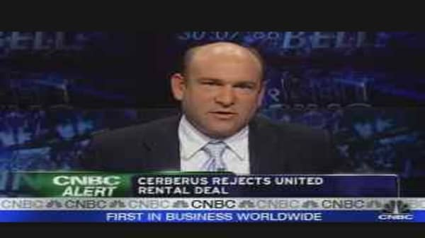 Cerberus Rejects United Rental Deal