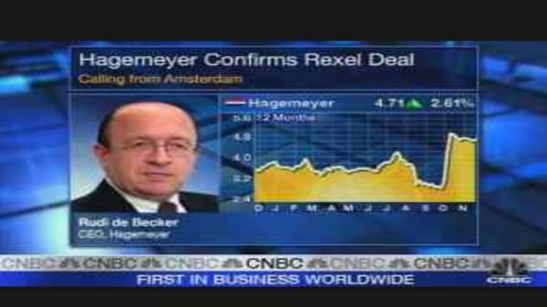 Hagemeyer CEO on Rexel Buy