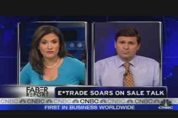 E-Trade Shares Soaring