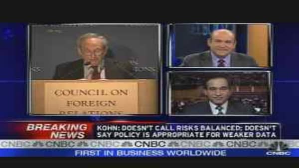 Fed's Kohn Comments