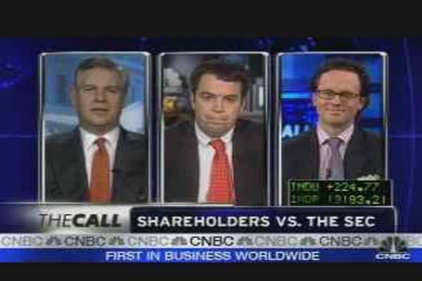 Shareholders vs. the SEC