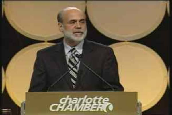 Bernanke Speaks, Pt. 1