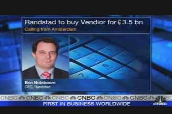 Randstad Makes $5.2 Billion Bid for Vedior