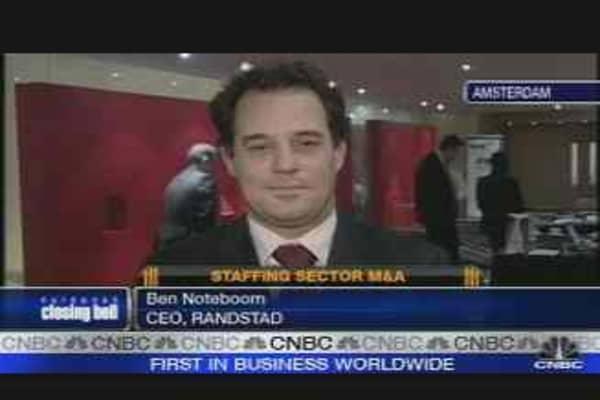 Randstad CEO on Vedior Bid
