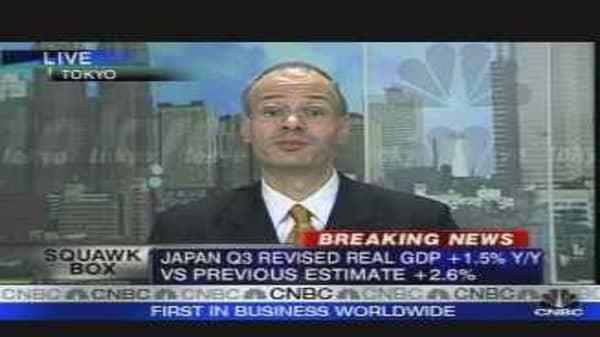 Japan Revises Down Q3 GDP